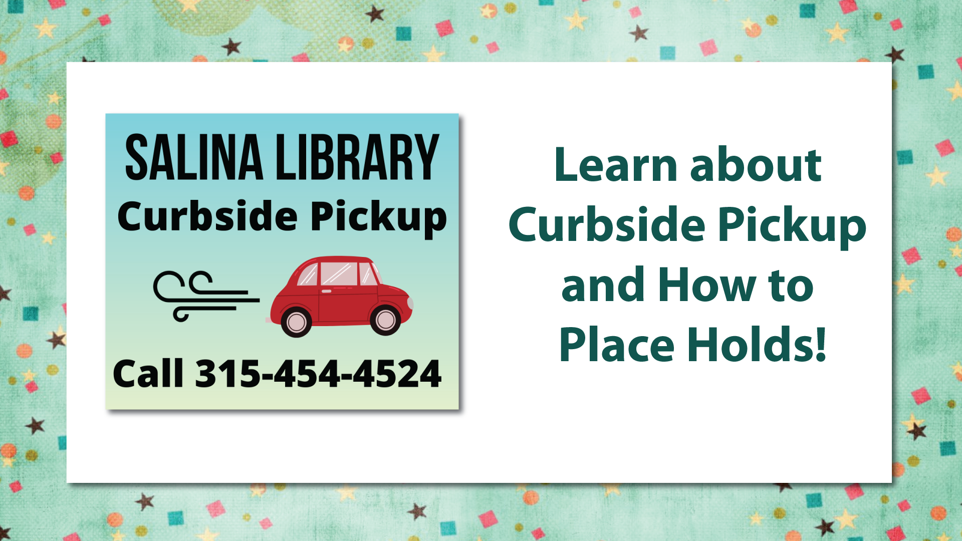 Curbside Service Information
